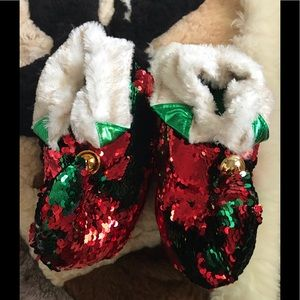 Shoes - Sequined holiday slippers!